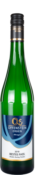 BESTES FASS, Eltviller Weißwein trocken mit wenig Säure, Offenstein Erben
