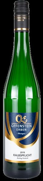 KALBSPFLICHT Riesling Weißwein halbtrocken, Rheingau, Offenstein Erben